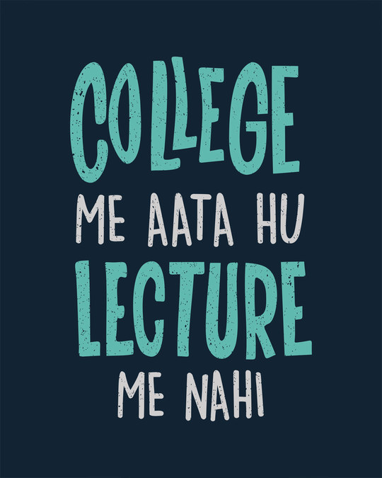 Shop College Lecture Half Sleeve T-Shirt