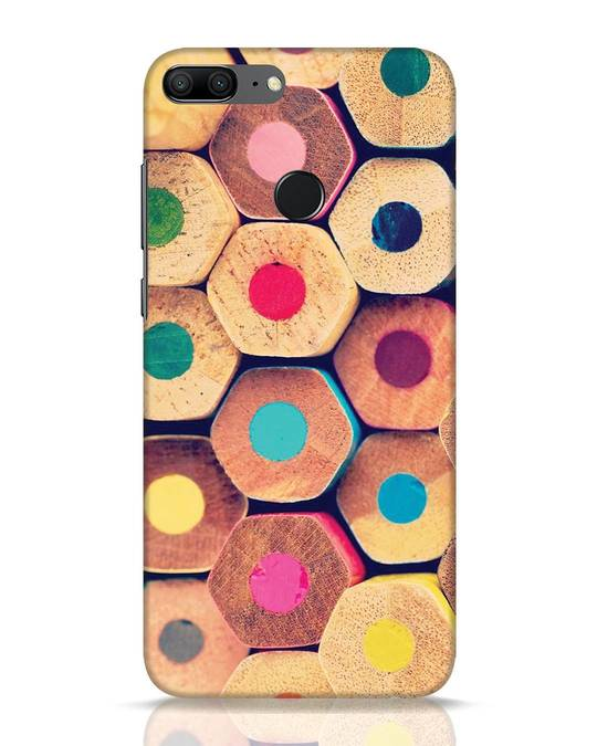 Shop Color Pencil Huawei Honor 9 Lite Mobile Cover-Front