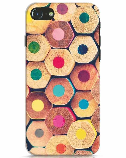 Shop Color Pencil iPhone 8 Mobile Cover-Front