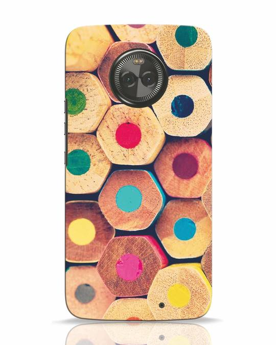 Shop Color Pencil Moto X4 Mobile Cover-Front