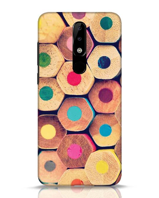 Shop Color Pencil Nokia 5.1 Plus Mobile Cover-Front