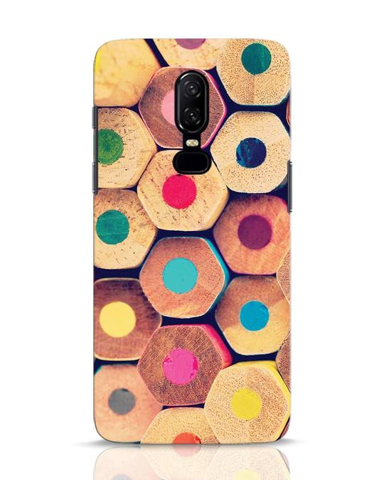 Shop Color Pencil OnePlus 6 Mobile Cover-Front