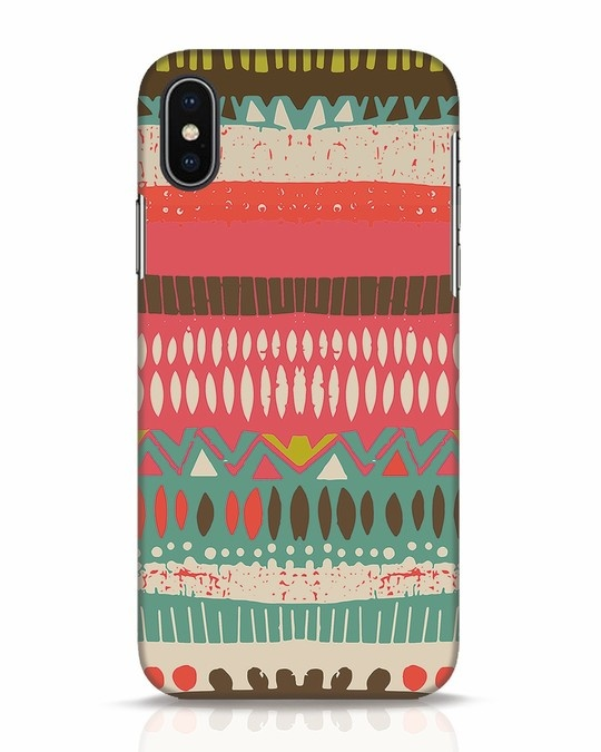 Shop Color Pile iPhone X Mobile Cover-Front
