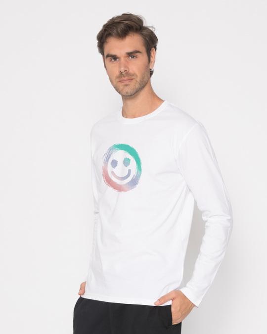 Shop Color Smiley Full Sleeve T-Shirt-Back