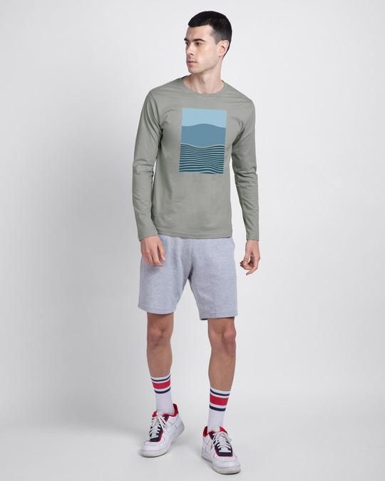Shop Color Wave Full Sleeve T-Shirt-Design