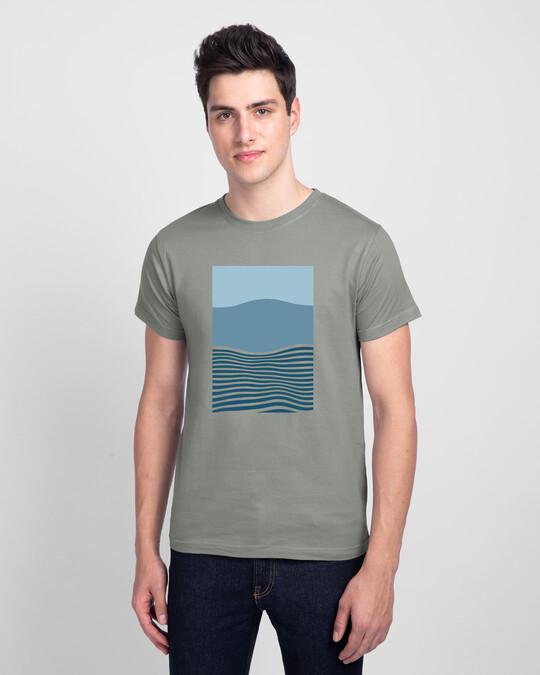 Shop Color Wave Half Sleeve T-Shirt-Front