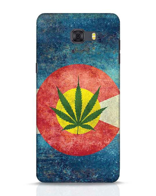 Shop Colorado Flag Samsung Galaxy C9 Pro Mobile Cover-Front