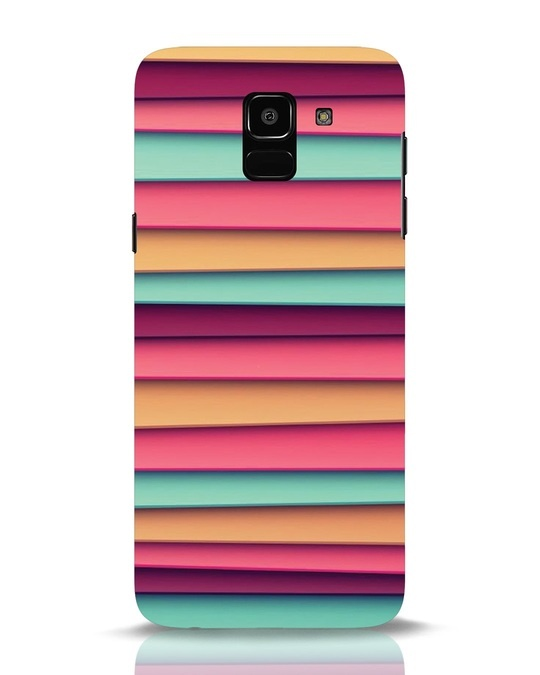 Shop Colorful Blinds Samsung Galaxy J6 Mobile Cover-Front