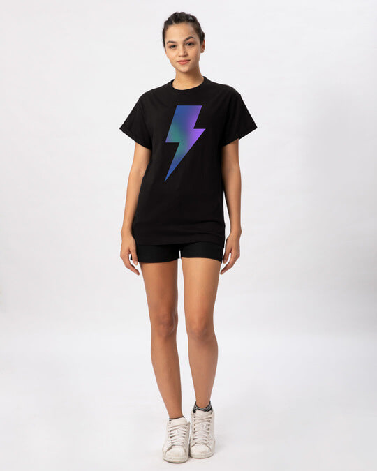 Shop Colorful Bolt Boyfriend T-Shirt