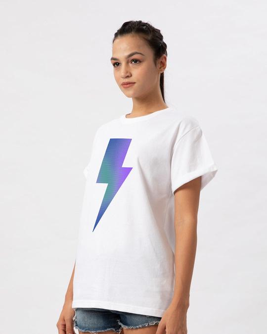 Shop Colorful Bolt Boyfriend T-Shirt-Back