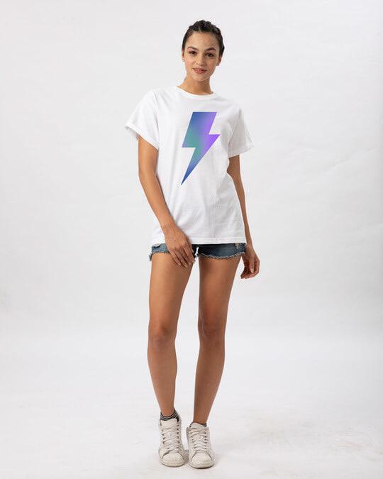 Shop Colorful Bolt Boyfriend T-Shirt