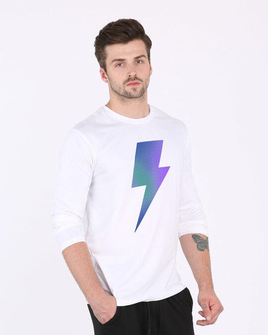 Shop Colorful Bolt Full Sleeve T-Shirt-Back