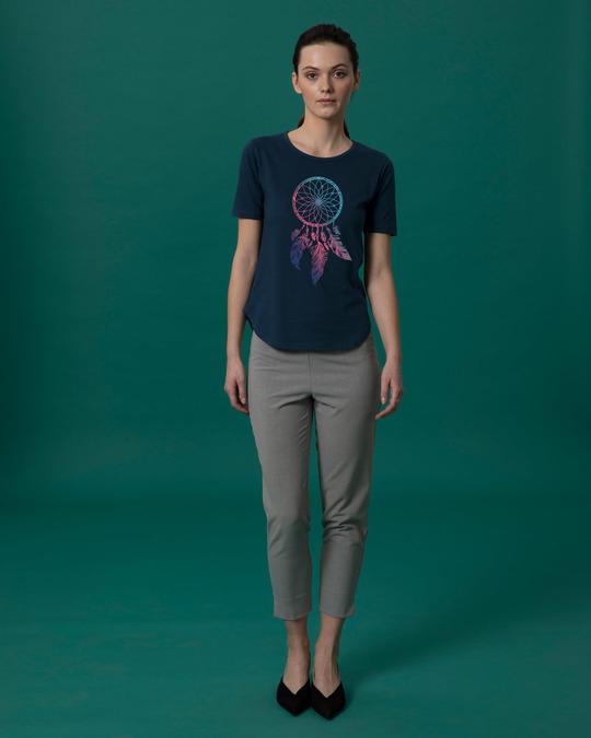 Shop Colorful Dreamcatcher Basic Round Hem T-Shirt