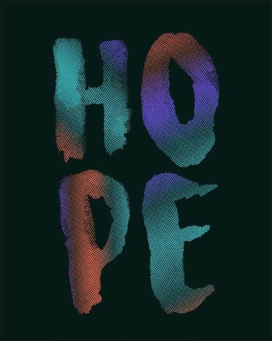Shop Colorful Hope Boyfriend T-Shirt