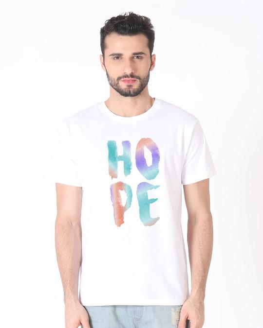Shop Colorful Hope Half Sleeve T-Shirt-Back