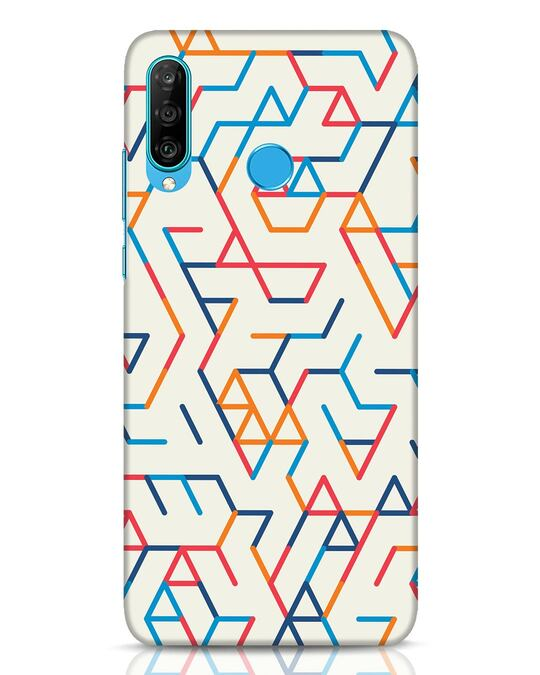 Shop Colorful Lines Huawei P30 Lite Mobile Cover-Front