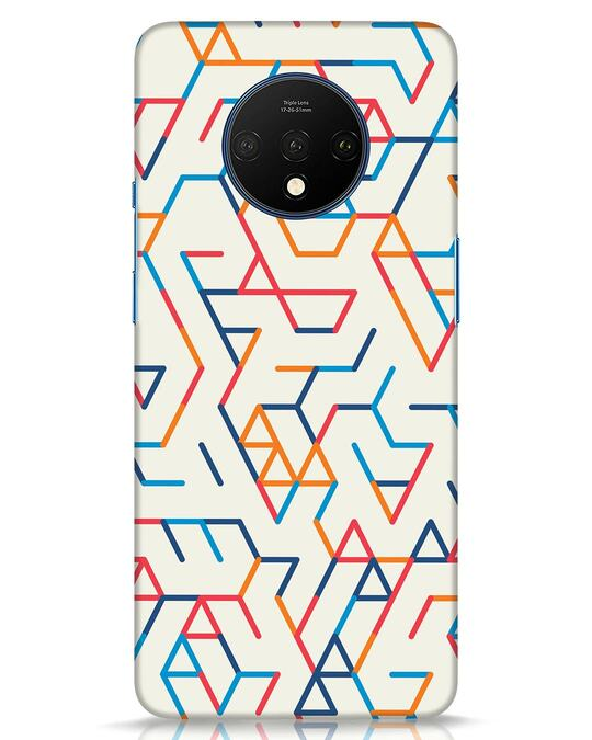 Shop Colorful Lines OnePlus 7T Mobile Cover-Front