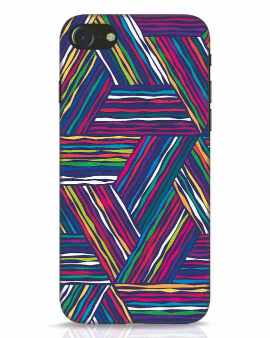 Shop Colorful Pattern iPhone 8 Mobile Cover-Front