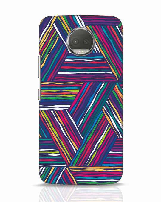 Shop Colorful Pattern Moto G5s Plus Mobile Cover-Front