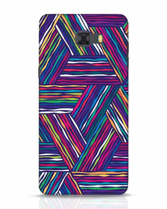Shop Colorful Pattern Samsung Galaxy C9 Pro Mobile Cover-Front