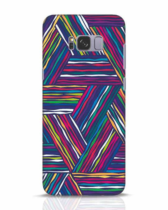 Shop Colorful Pattern Samsung Galaxy S8 Plus Mobile Cover-Front