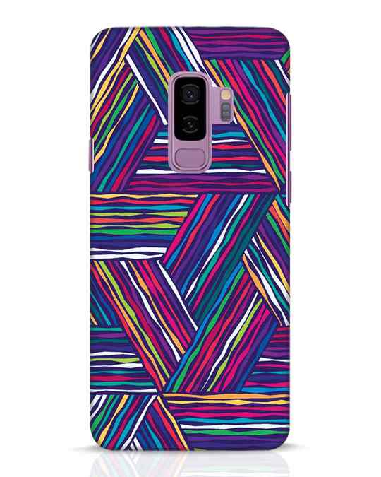 Shop Colorful Pattern Samsung Galaxy S9 Plus Mobile Cover-Front