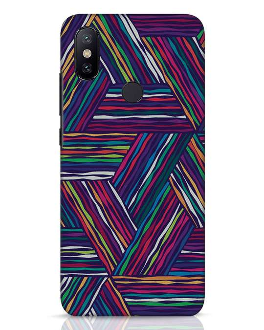 Shop Colorful Pattern Xiaomi Mi A2 Mobile Cover-Front
