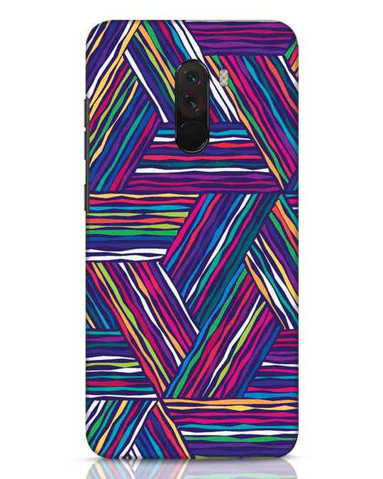 Shop Colorful Pattern Xiaomi POCO F1 Mobile Cover-Front