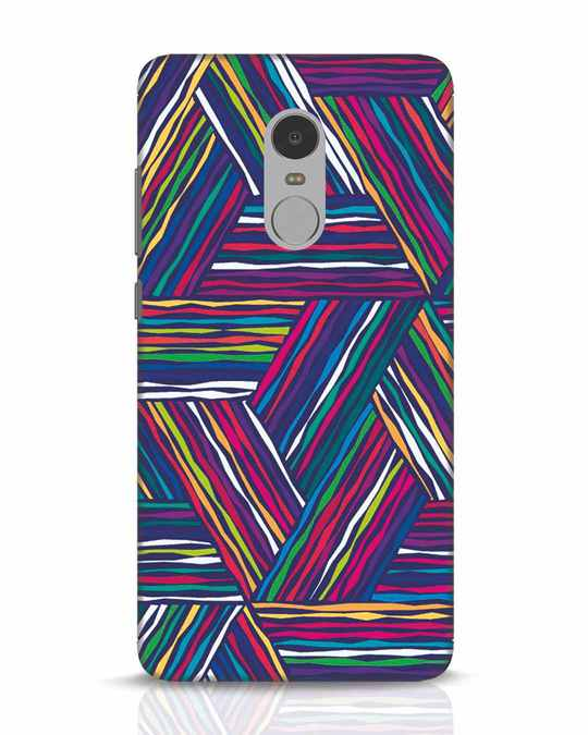 Shop Colorful Pattern Xiaomi Redmi Note 4 Mobile Cover-Front