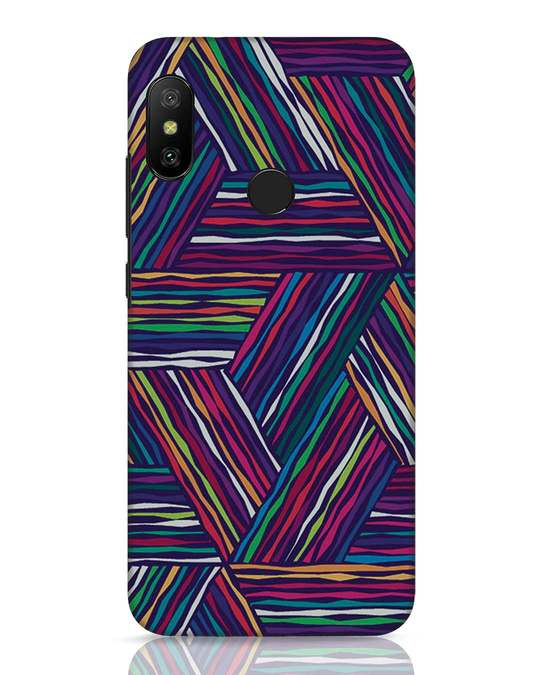 Shop Colorful Pattern Xiaomi Redmi Note 6 Pro Mobile Cover-Front