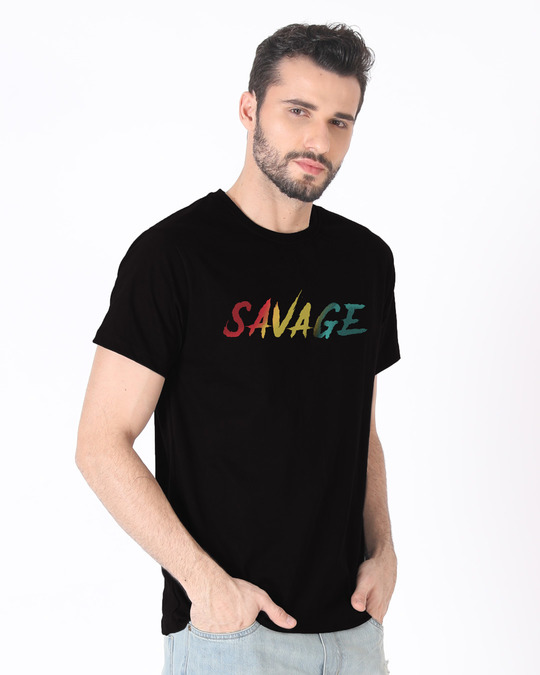 Shop Colorful Savage Half Sleeve T-Shirt-Full