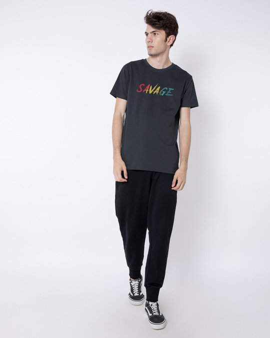 Shop Colorful Savage Half Sleeve T-Shirt