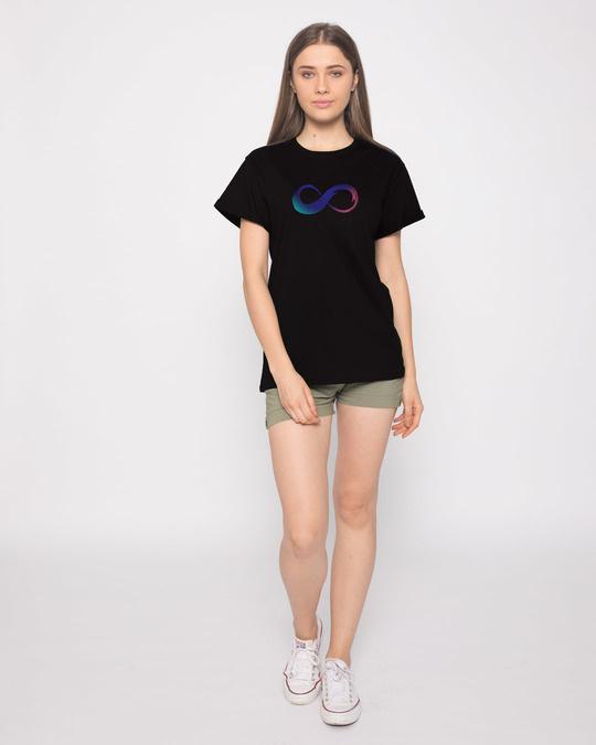 Shop Colors Of Infinity Boyfriend T-Shirt