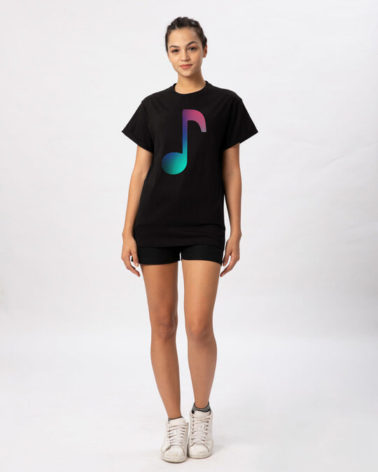 Shop Colors Of Music Boyfriend T-Shirt