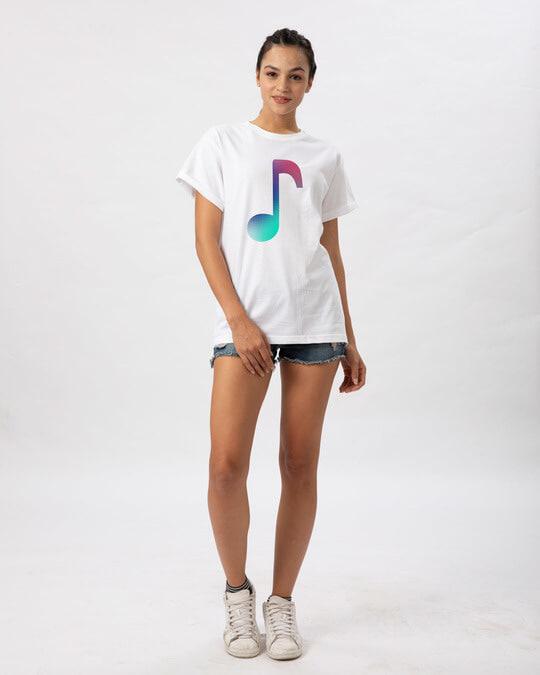Shop Colors Of Music Boyfriend T-Shirt