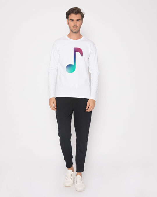 Shop Colors Of Music Full Sleeve T-Shirt