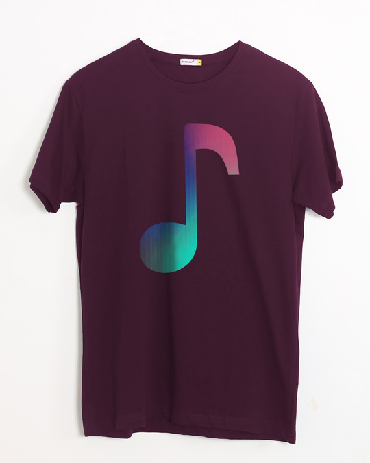 Shop Colors Of Music Half Sleeve T-Shirt-Front