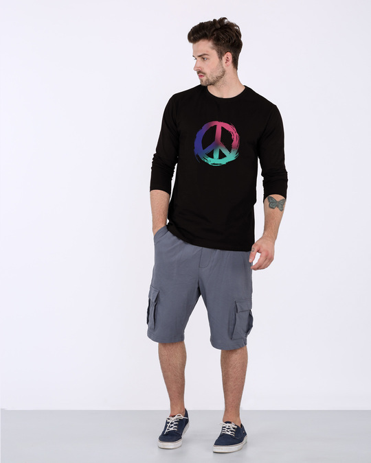 Shop Colors Of Peace Full Sleeve T-Shirt-Full