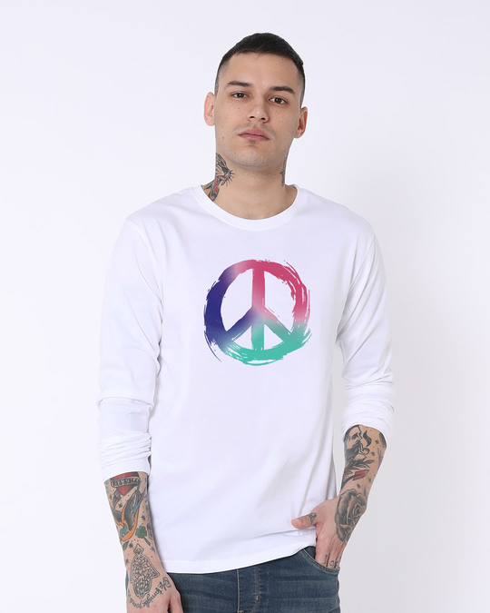 Shop Colors Of Peace Full Sleeve T-Shirt-Front