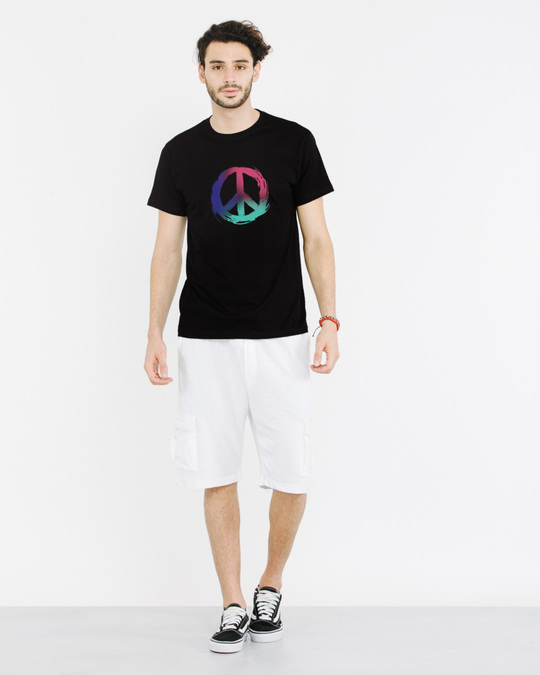 Shop Colors Of Peace Half Sleeve T-Shirt