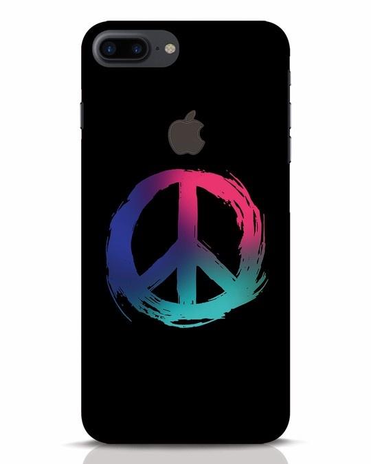 Shop Colors Of Peace iPhone 7 Plus Logo Cut Mobile Cover-Front