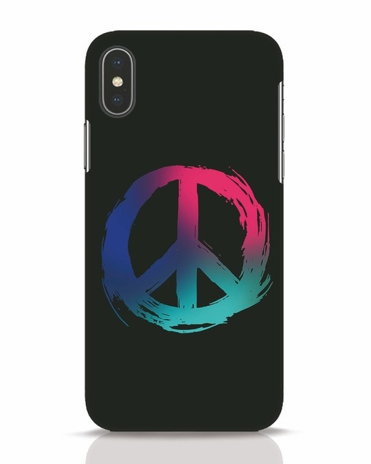 Shop Colors Of Peace iPhone X Mobile Cover-Front