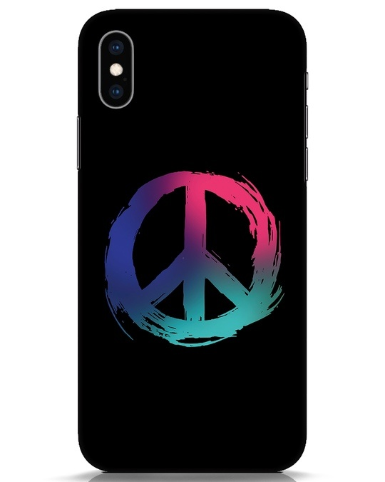 Shop Colors Of Peace iPhone XS Mobile Cover-Front