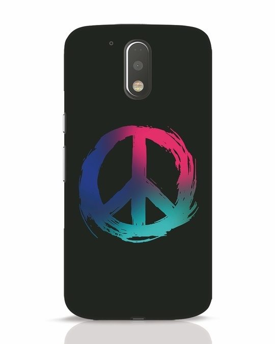 Shop Colors Of Peace Moto G4 Plus Mobile Cover-Front