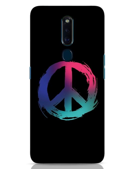 Shop Colors Of Peace Oppo F11 Pro Mobile Cover-Front