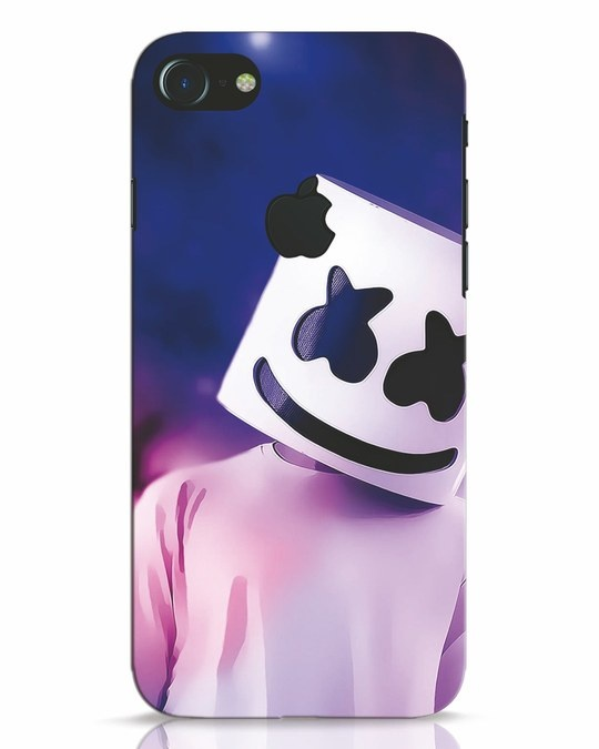 Shop Colourful Mellow iPhone 7 Logo Cut Mobile Cover-Front