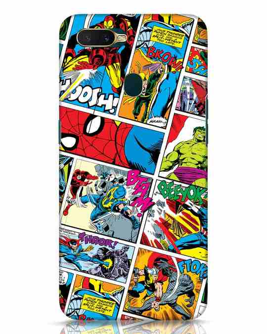 Shop Comic Page Oppo A7 Mobile Cover (AVL)-Front