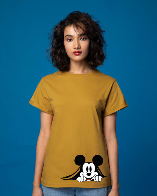 Shop Coming Through Mickey Boyfriend T-Shirt (DL)-Front