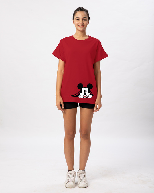 Shop Coming Through Mickey Boyfriend T-Shirt (DL)-Full