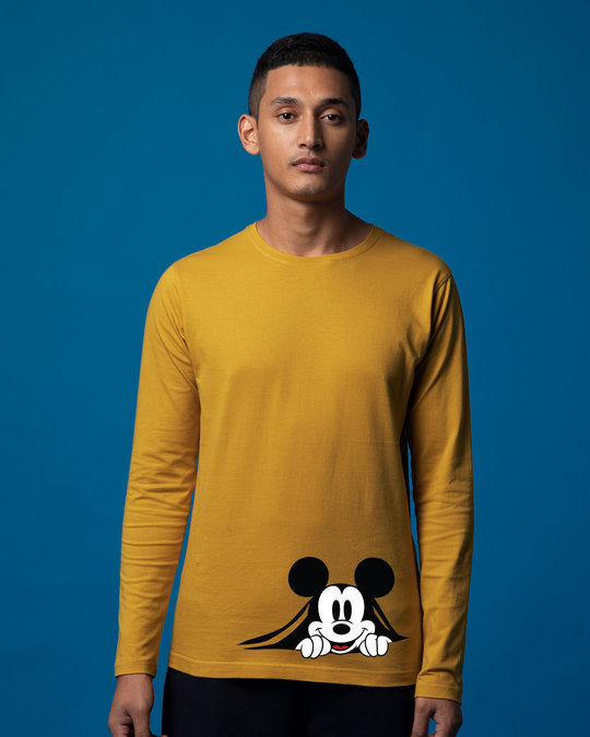Shop Coming Through Mickey Full Sleeve T-Shirt (DL)-Front